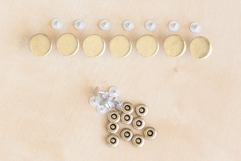 Button Fly Denim Hardware Kit in Brass