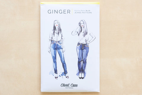 Closet Case Patterns - Ginger Skinny Jeans Sewing Pattern