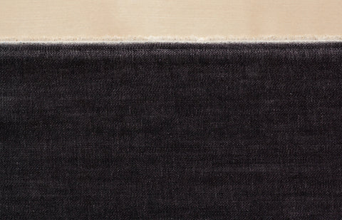 9 Oz Cone Mills S-Gene Denim in Black II (1/2 yard)