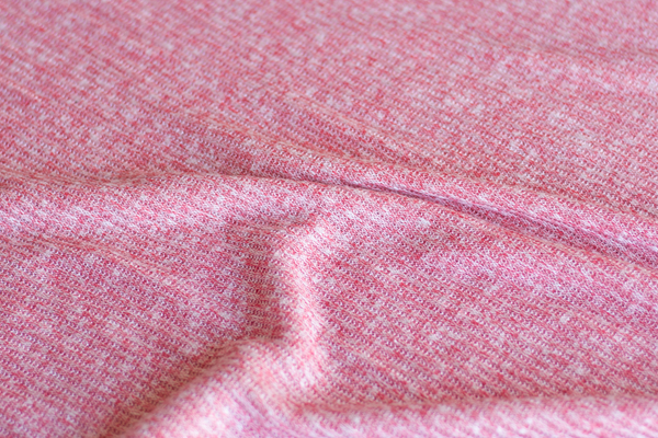 Rayon Blend 2x2 Rib Sweater Knit - Heathered Pink (1/2 yard)