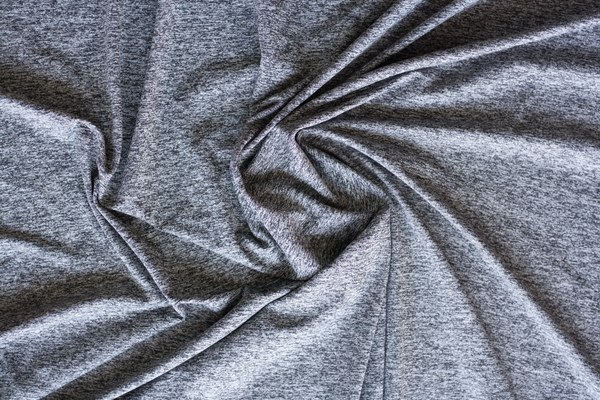 Activewear Jersey in Heathered Charcoal (1/2 yard)