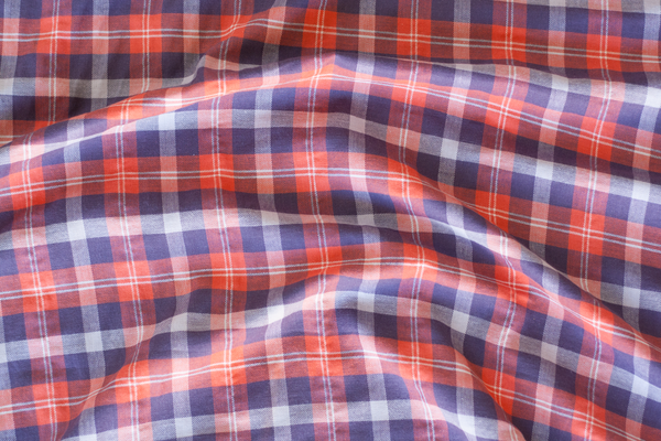 Lightweight Brushed Cotton Plaid Shirting (1/2 yard)