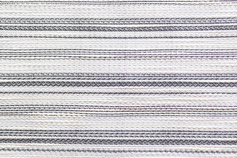 6oz Rayon Blend Jacquard - Black and Cream Lurex Stripes (1/2 yard)