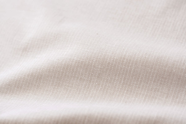 Washed Linen Blend Shirting - Tan with White Stripes (1/2 yard)