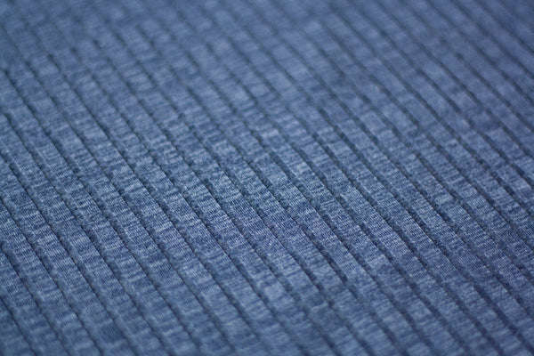 Wide Ribbed Sweater Knit - Midnight Blue (2.5 yd pre-cut)