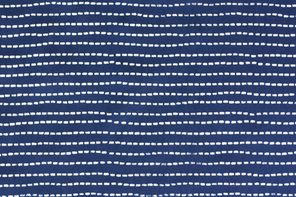 4.5 oz Cotton Poplin - Indigo Wabash Stripe (1/2 yard)
