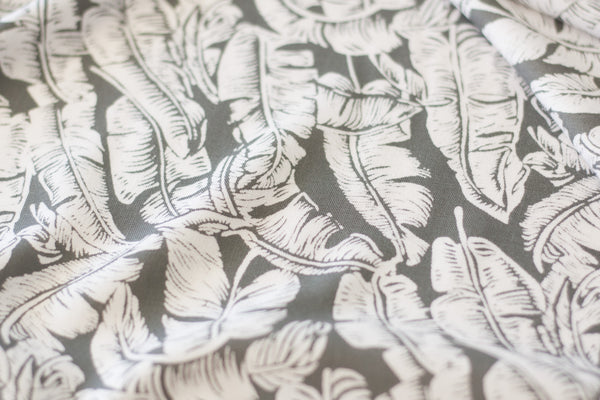 Rayon Challis - Sage Leaves (1/2 yard)