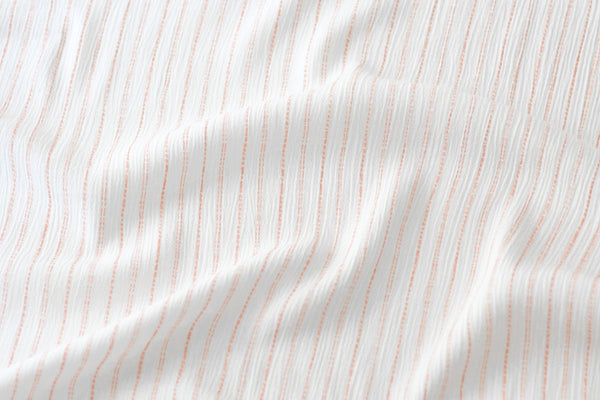 Rayon Crepe - White and Pink Stripes (1/2 yard)