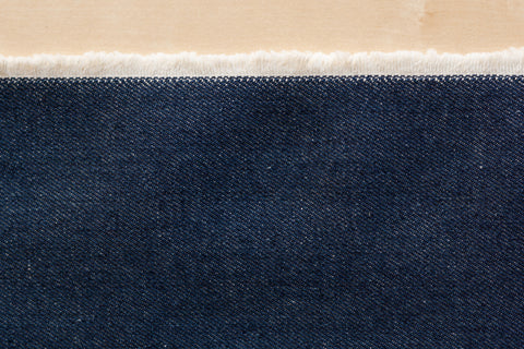 14.5 oz USA-Made Non-stretch Denim in Medium Indigo (1/2 yd)