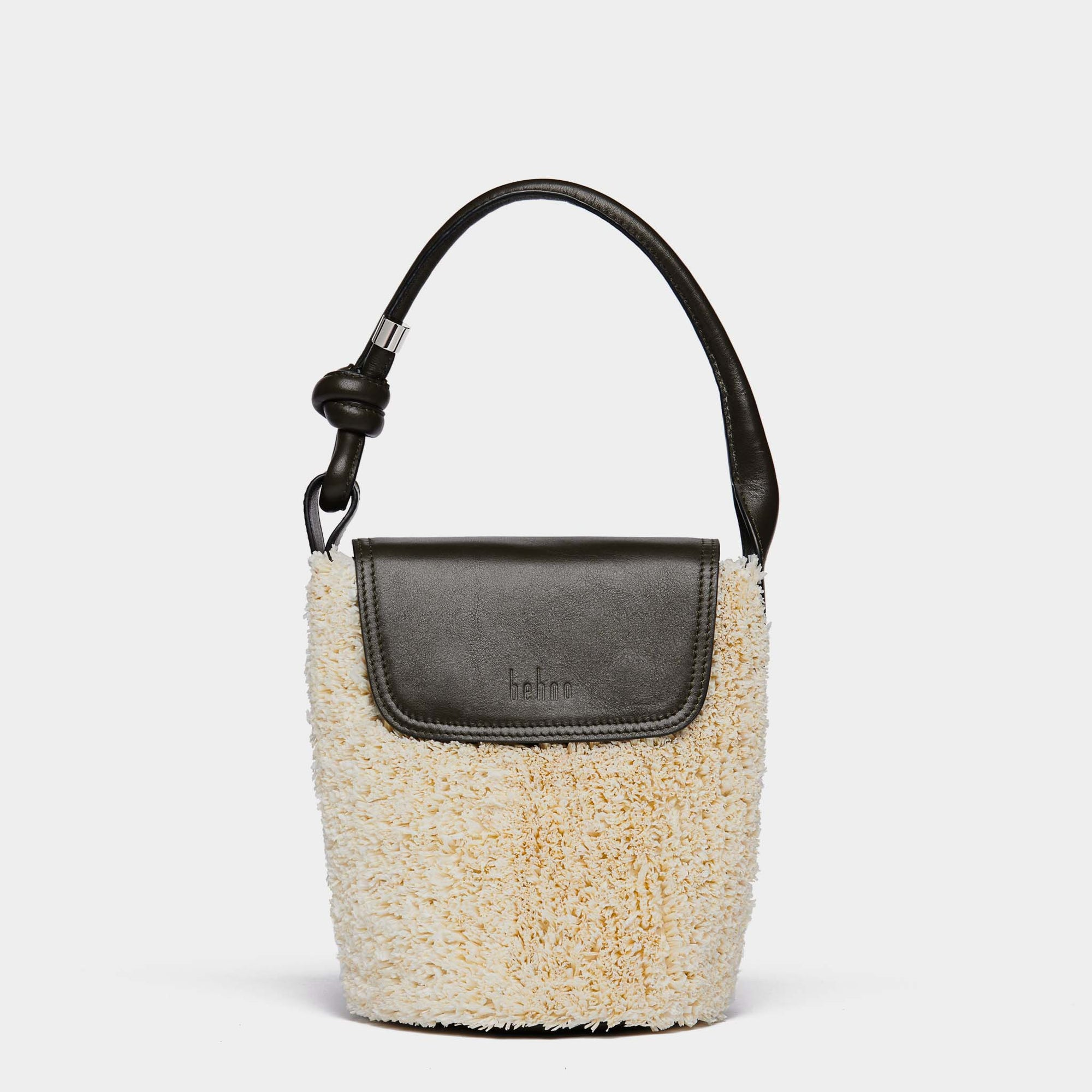 HELEN MINI BUCKET BAG RAFFIA OLIVE