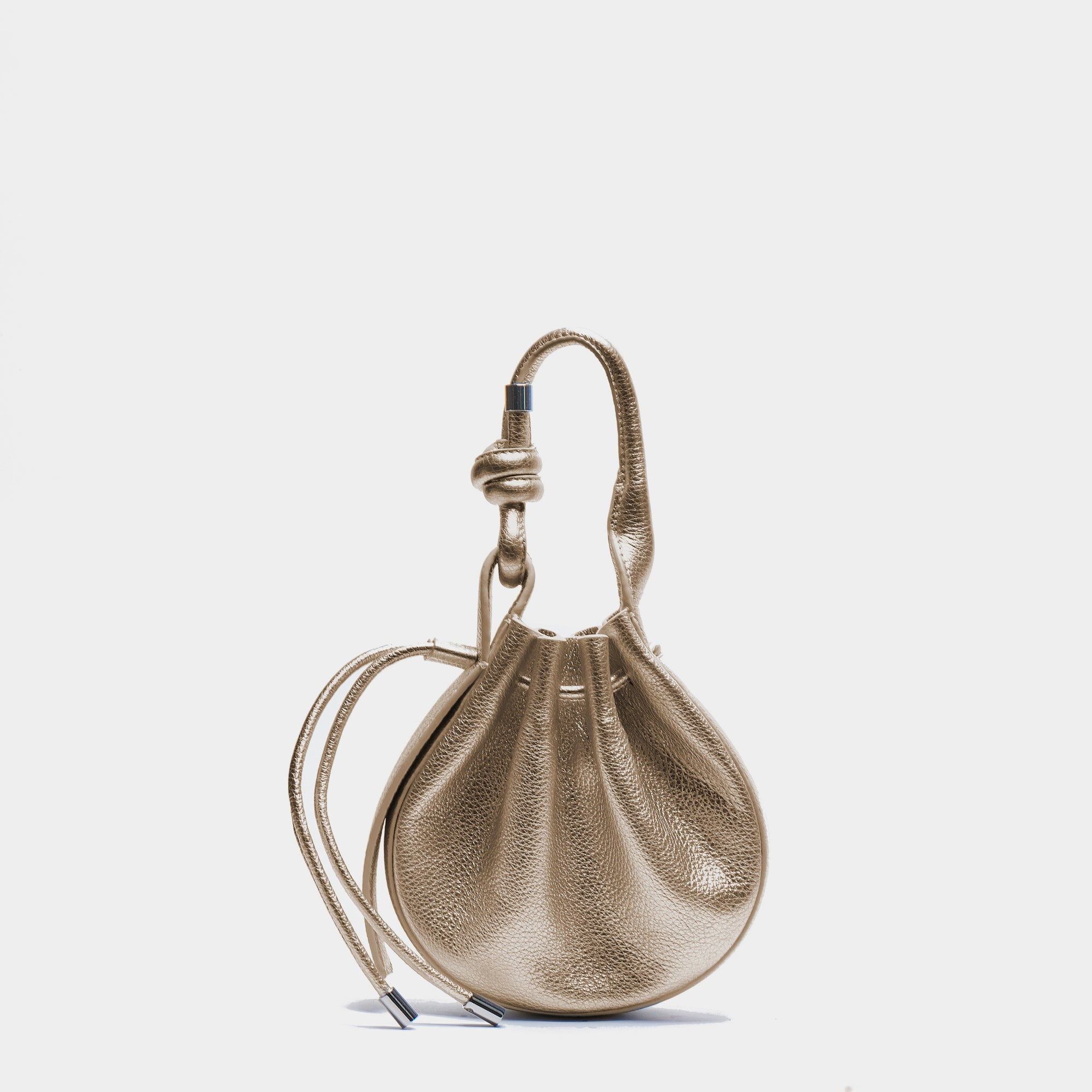 INA MINI CROSSBODY METALLIC GOLD