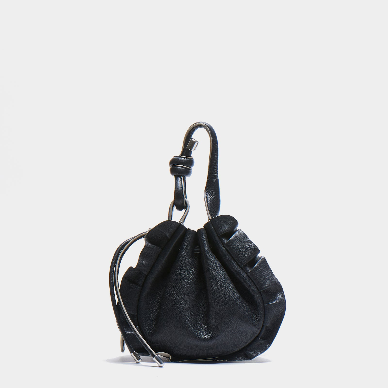 INA MINI CROSSBODY PEBBLE WAVE BLACK/BONE