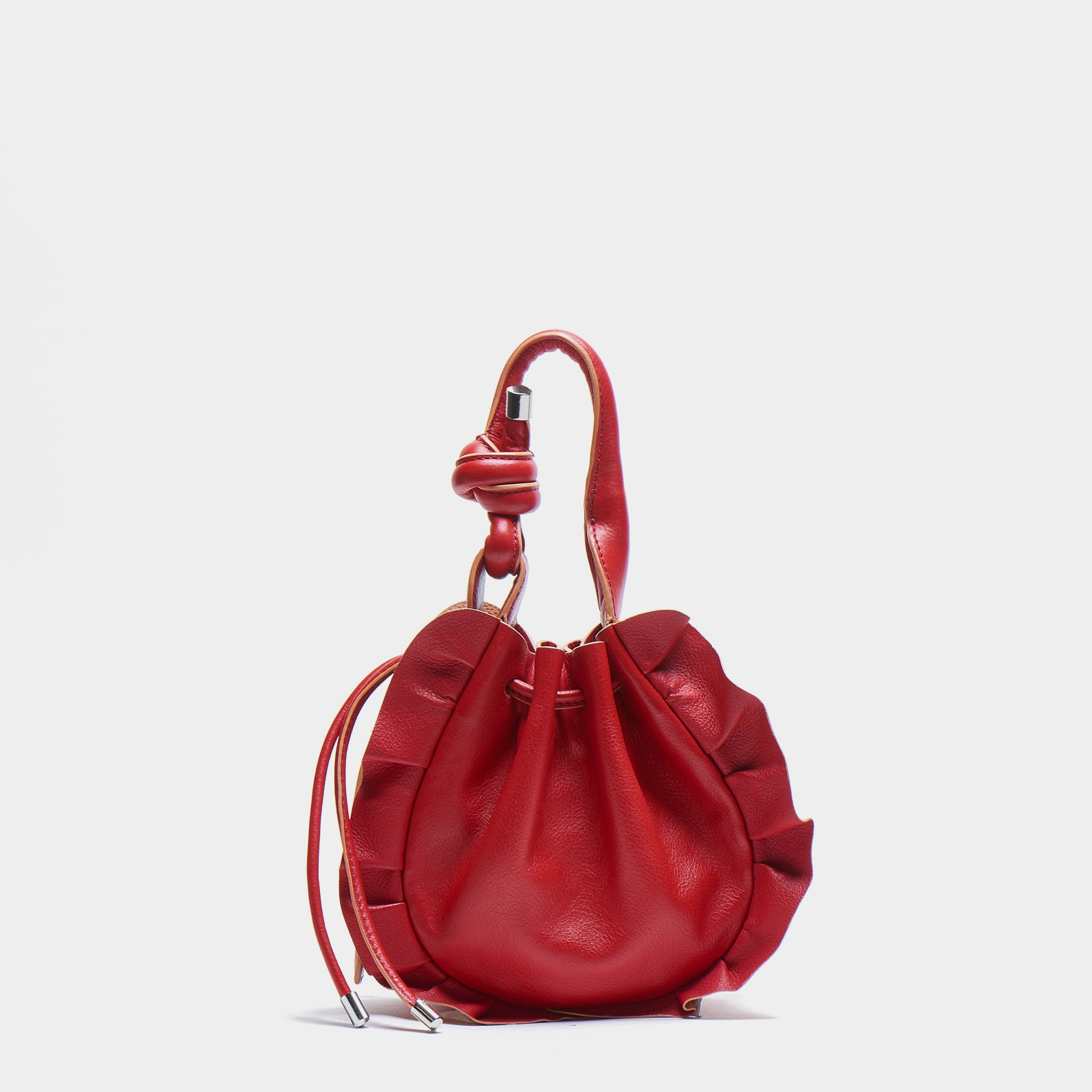 INA MINI CROSSBODY PEBBLE WAVE RED/APRICOT
