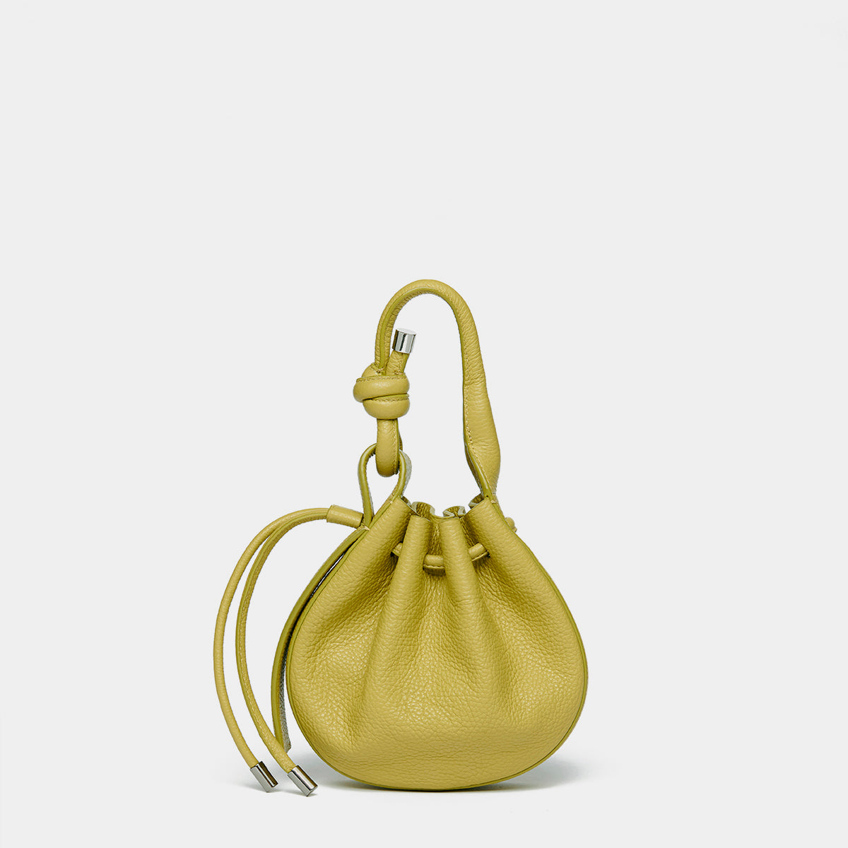 INA MINI CROSSBODY PEBBLE ACID GREEN