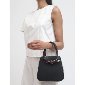 JACQUI BAG MINI NAPPA WINE/BLACK