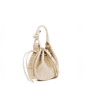 INA MINI CROSSBODY CROC BONE
