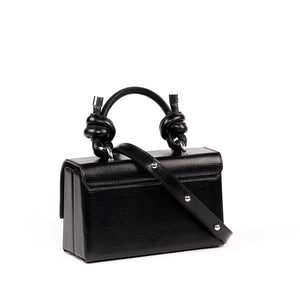 MARY BAG MINI LIZARD BLACK