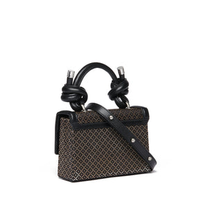 MARY BAG MINI JACQUARD BLACK/SILVER