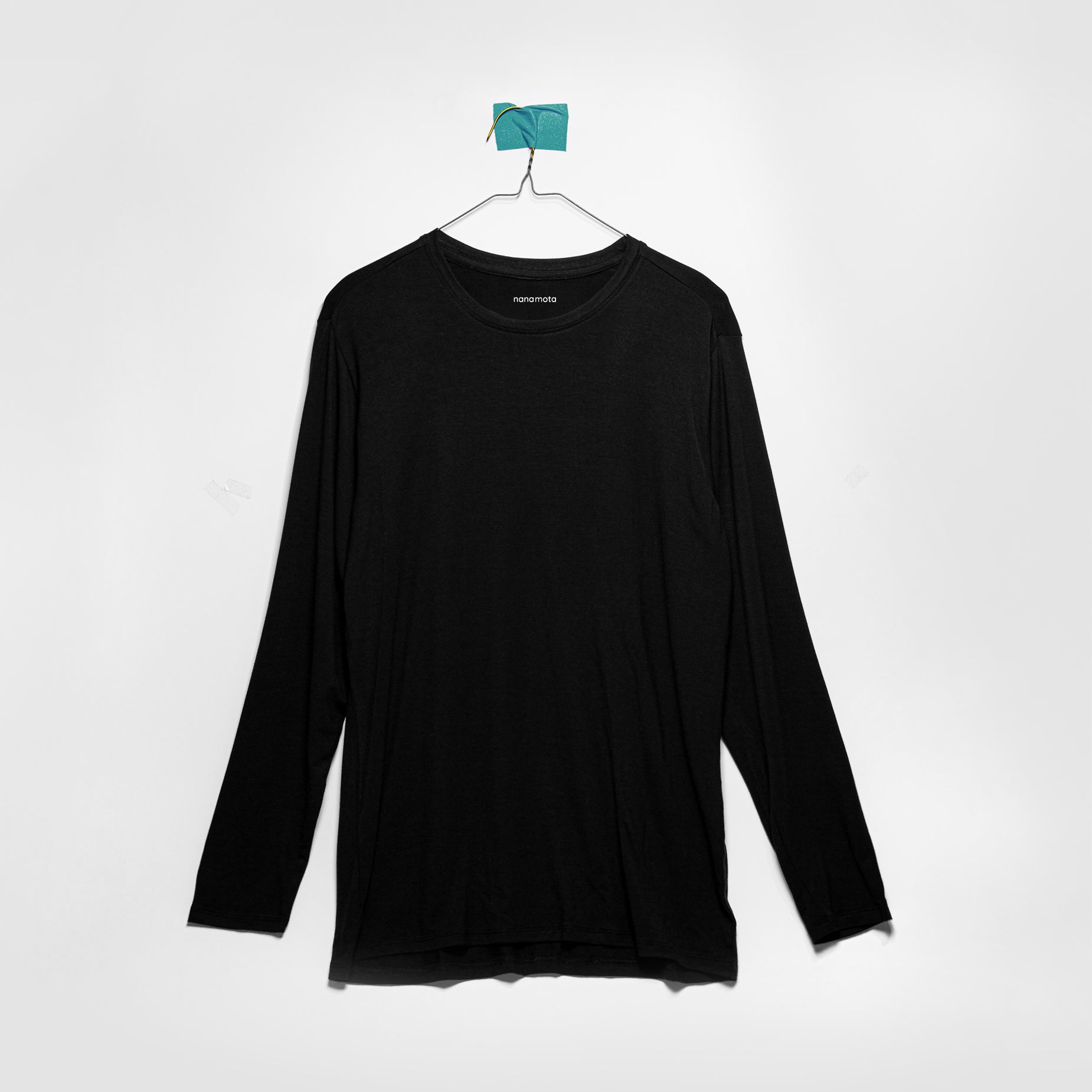 'THE SOFTEST TEE' MENS FITTED LONG-SLEEVE BLACK