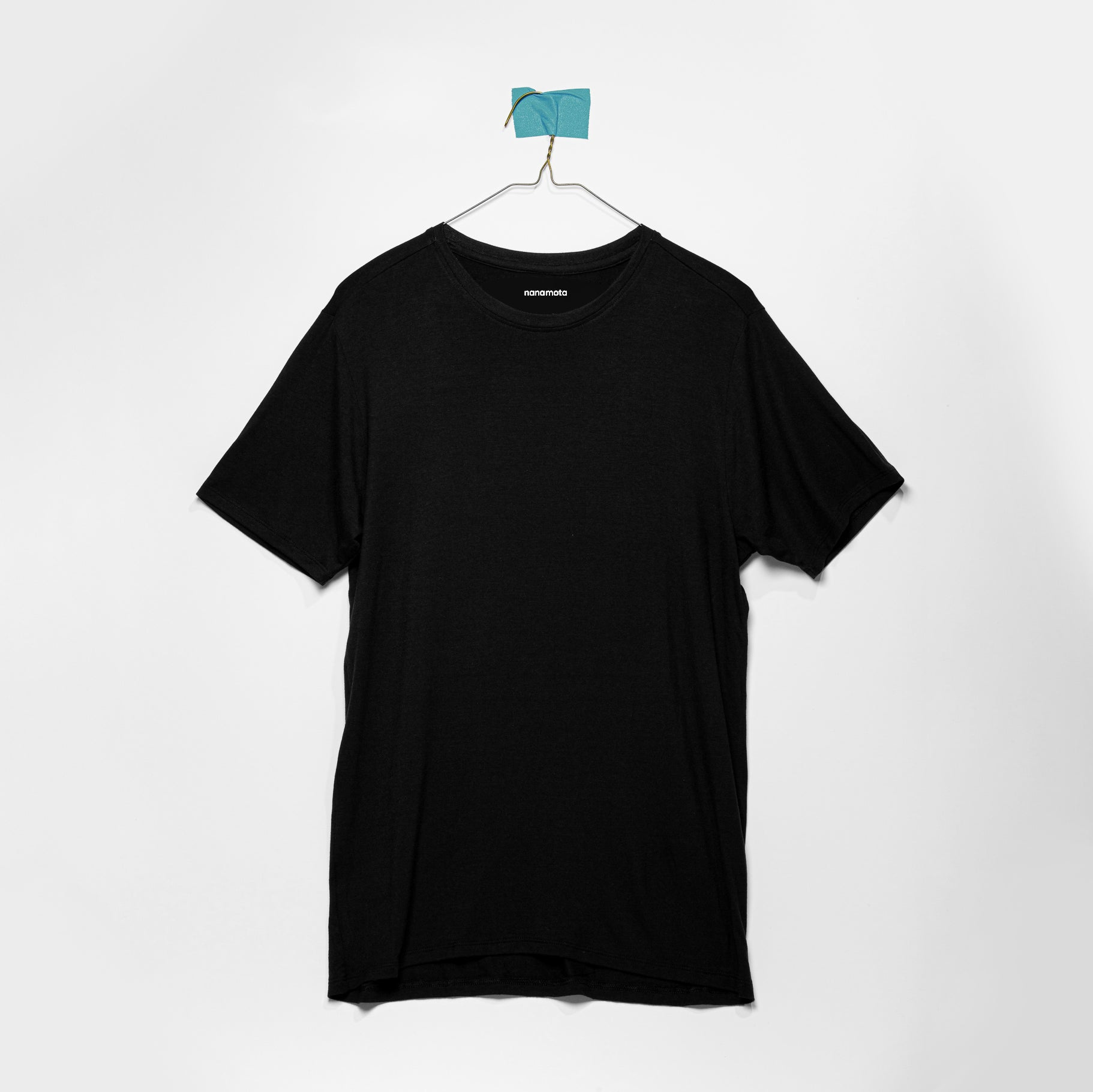 'THE SOFTEST TEE' MENS FITTED SHORT-SLEEVE BLACK