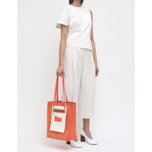 OLLIE REVERSIBLE TOTE PEBBLE CORAL