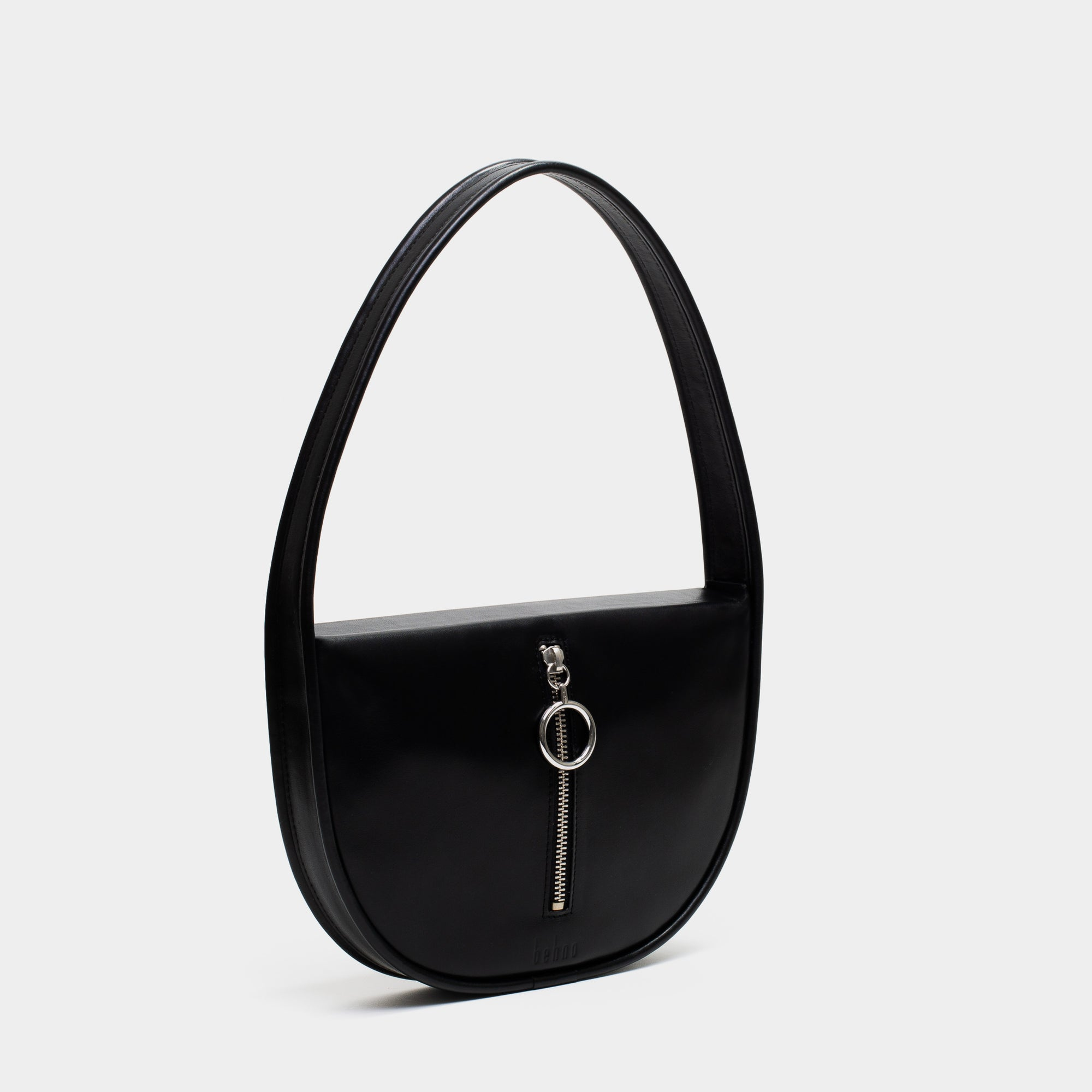 GRETA SINGLE SHOULDER BAG NAPPA BLACK