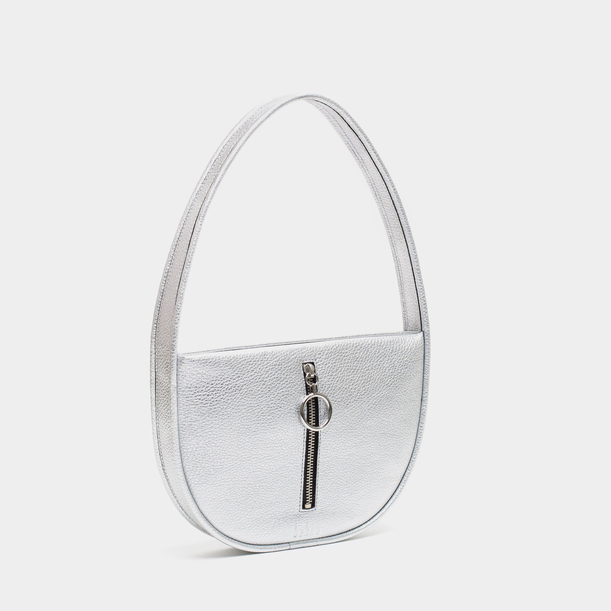 GRETA SINGLE SHOULDER BAG METALLIC SILVER