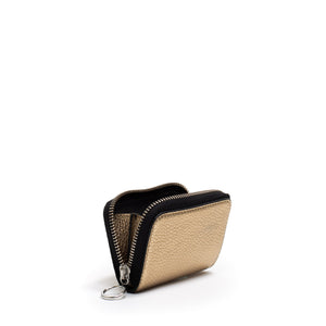 DEVON WALLET METALLIC GOLD