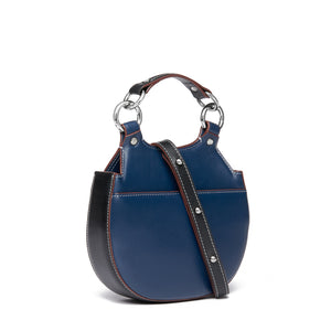 TILDA MINI SADDLE BAG NAPPA NAVY/BLACK