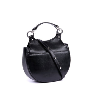 TILDA SADDLE BAG LIZARD BLACK