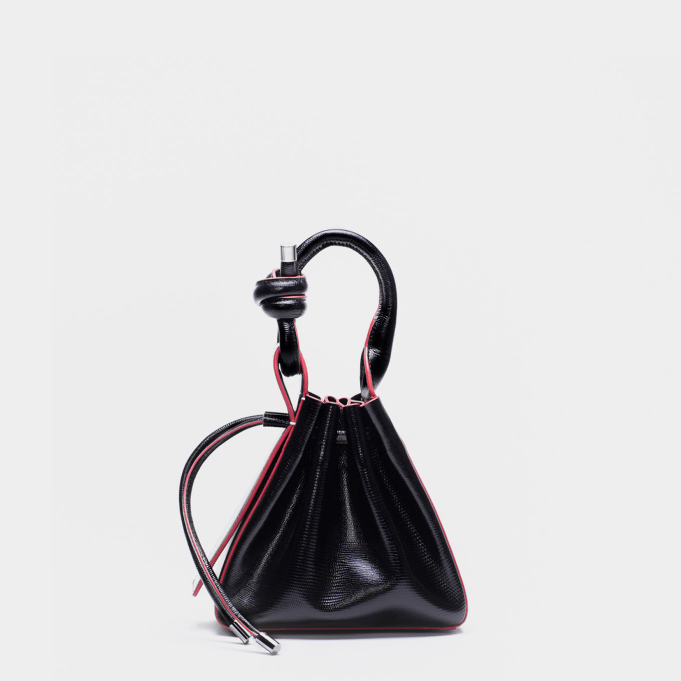 TINA MINI CROSSBODY LIZARD BLACK/RED