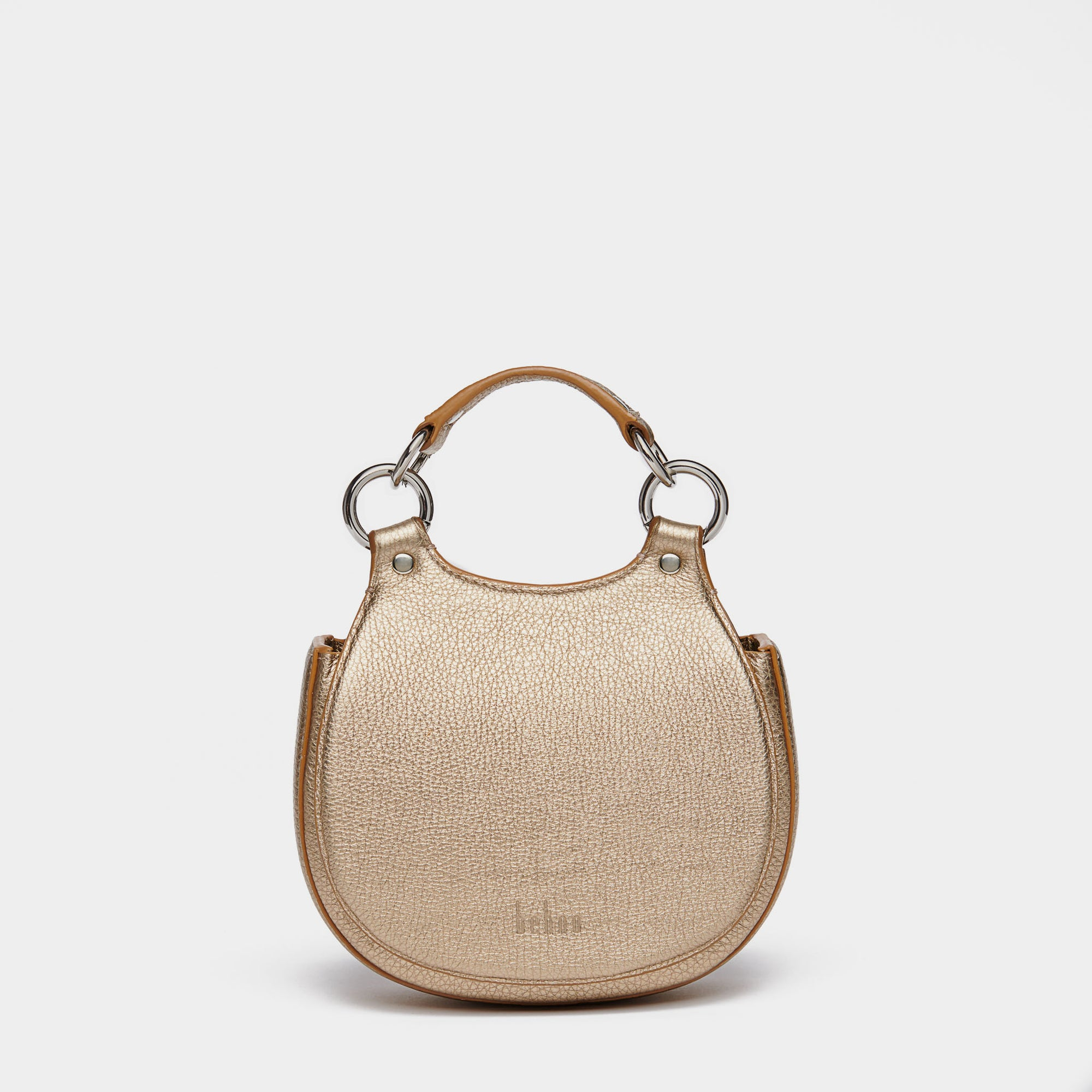 TILDA MINI SADDLE BAG PEBBLE GOLD