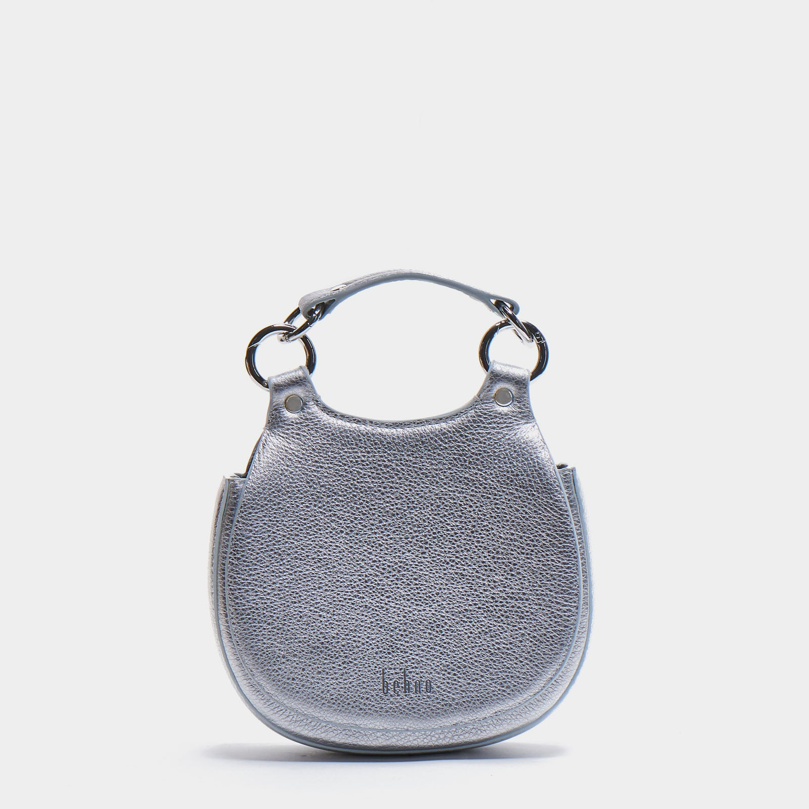 TILDA MINI SADDLE BAG METALLIC SILVER