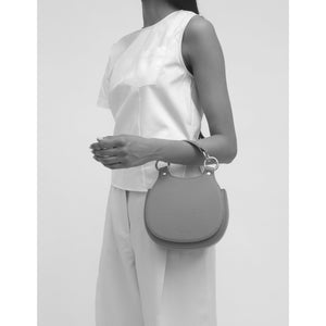 TILDA MINI SADDLE BAG PEBBLE BONE