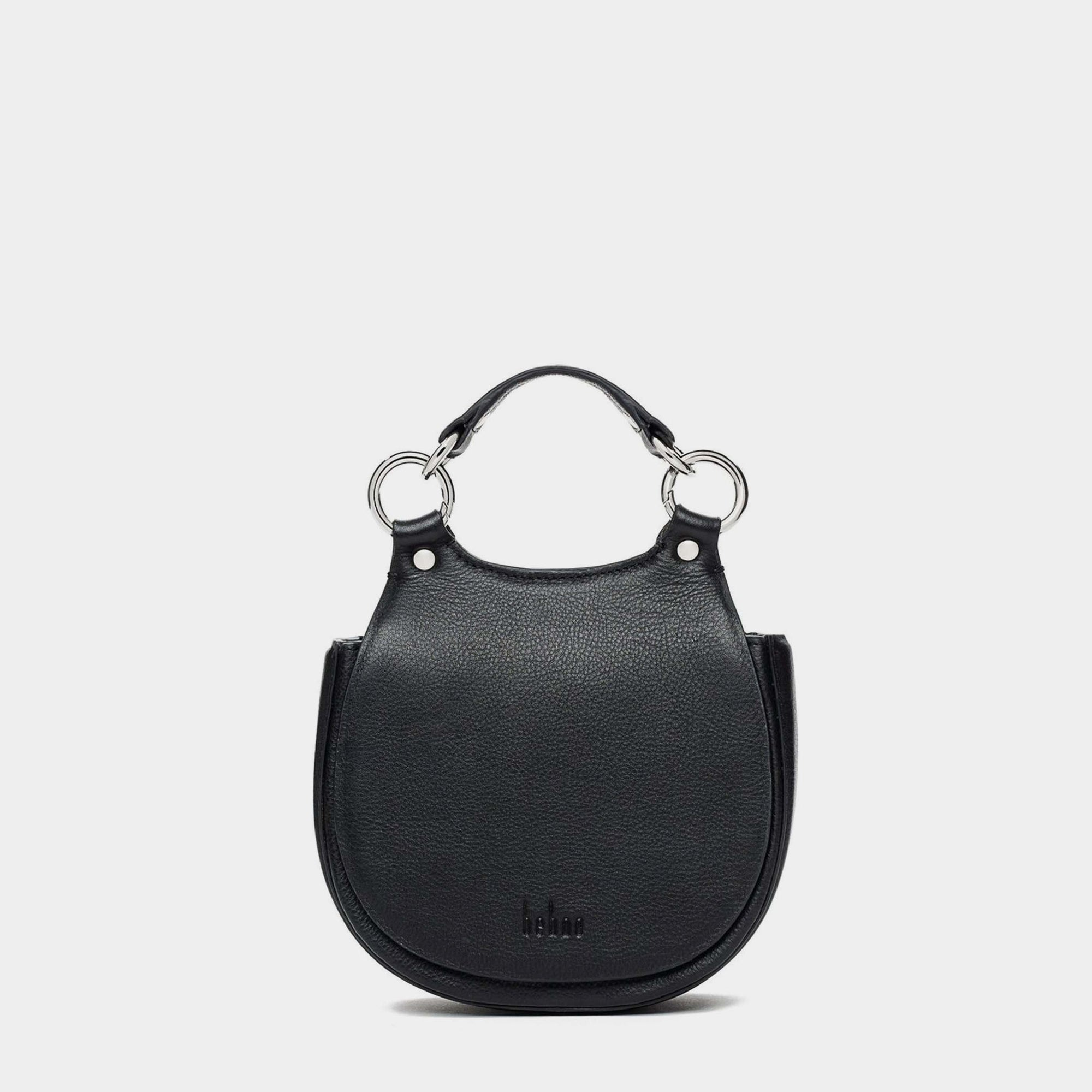 TILDA MINI SADDLE BAG PEBBLE BLACK
