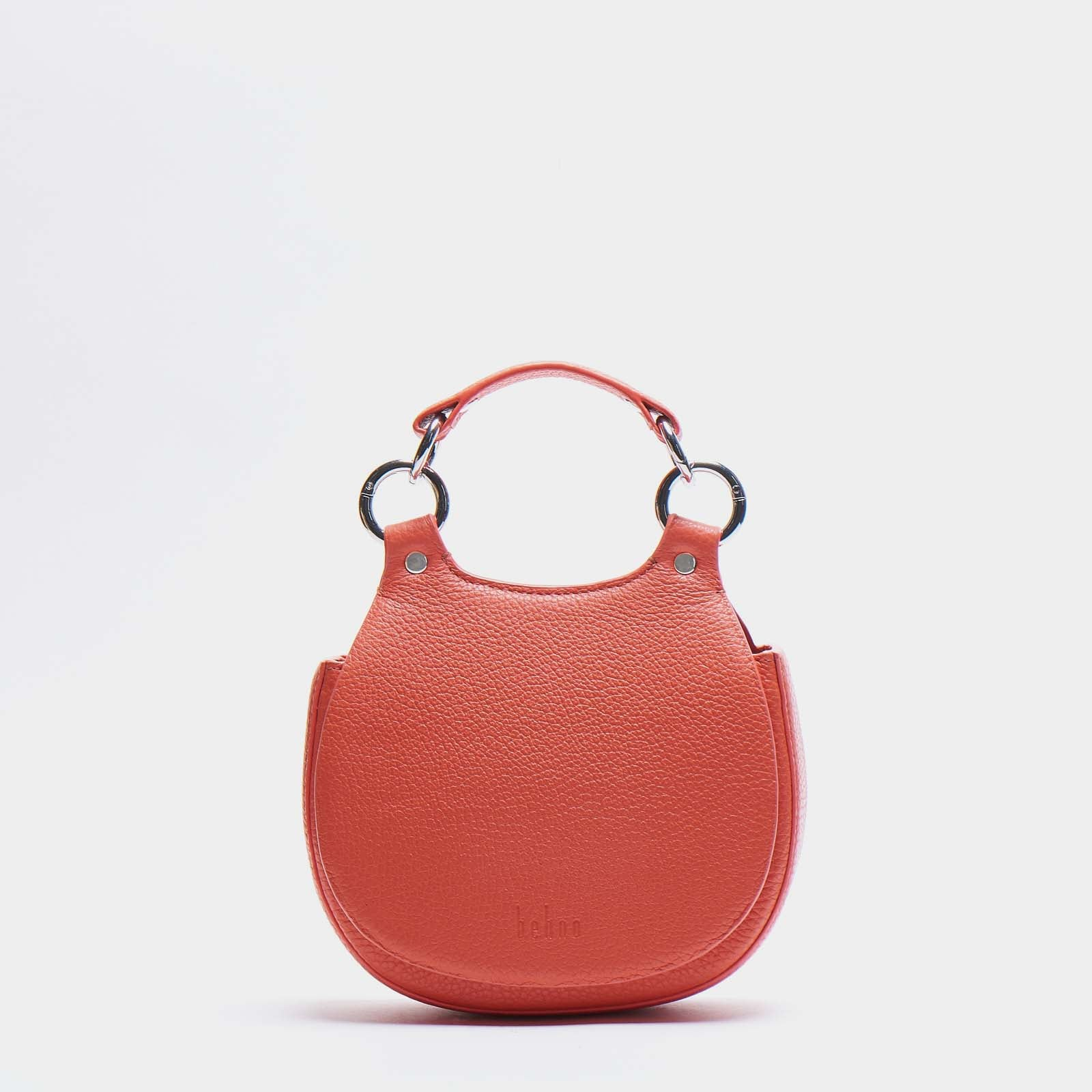 TILDA MINI SADDLE BAG PEBBLE CORAL