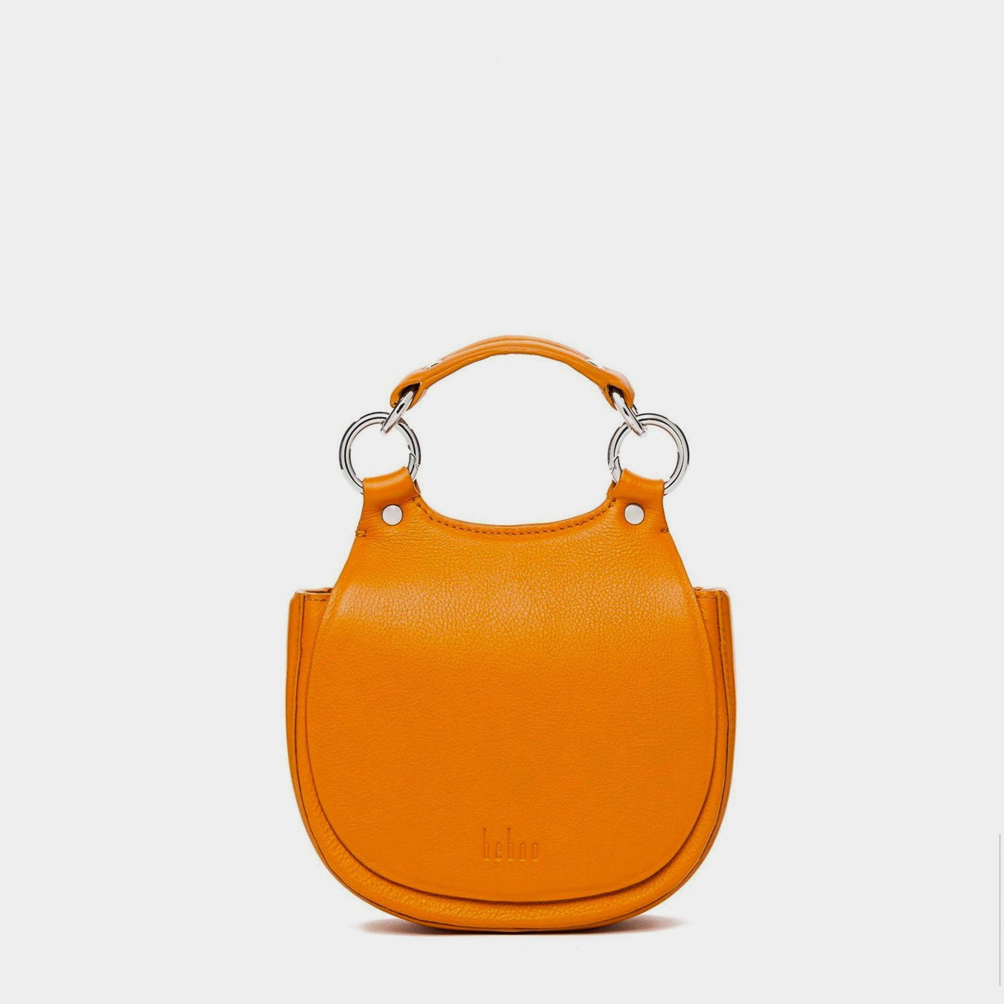 TILDA MINI SADDLE BAG PEBBLE SAFFRON