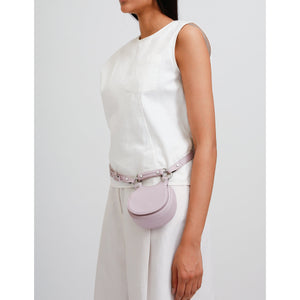 TILDA SADDLE BAG MICRO PEBBLE LILAC