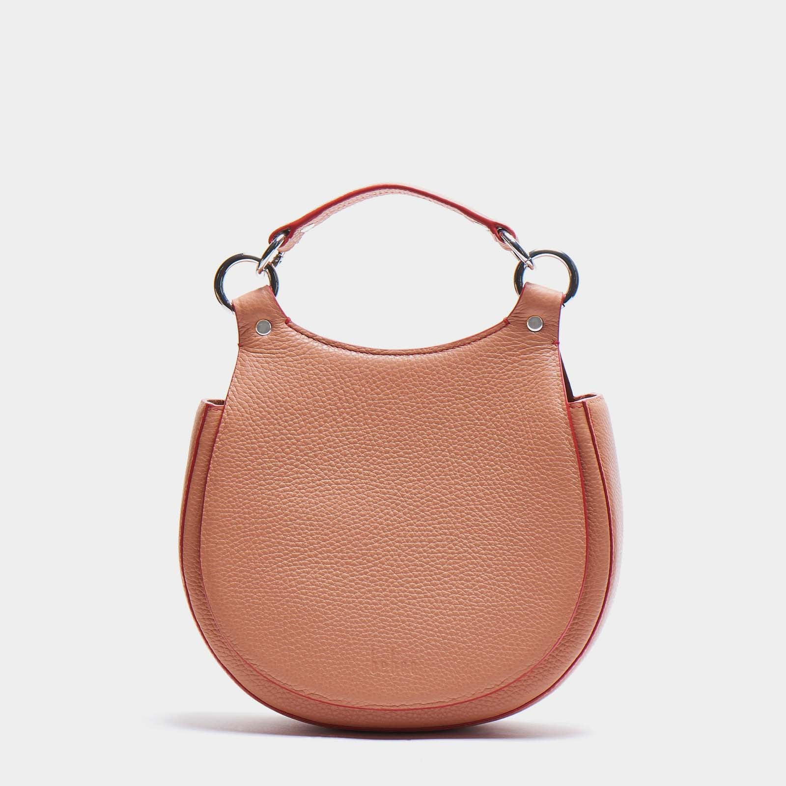 TILDA SADDLE BAG PEBBLE APRICOT/RED