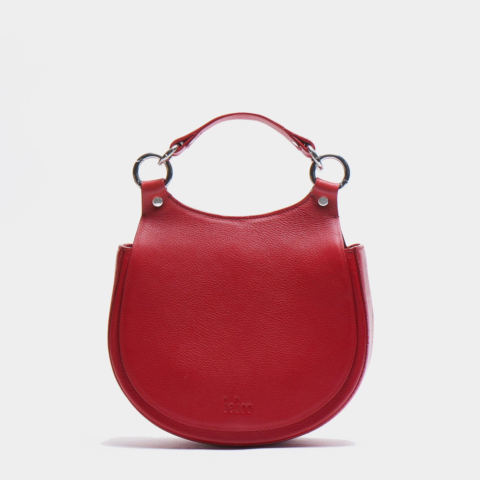 TILDA SADDLE BAG PEBBLE RED