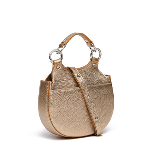 TILDA MINI SADDLE BAG METALLIC GOLD