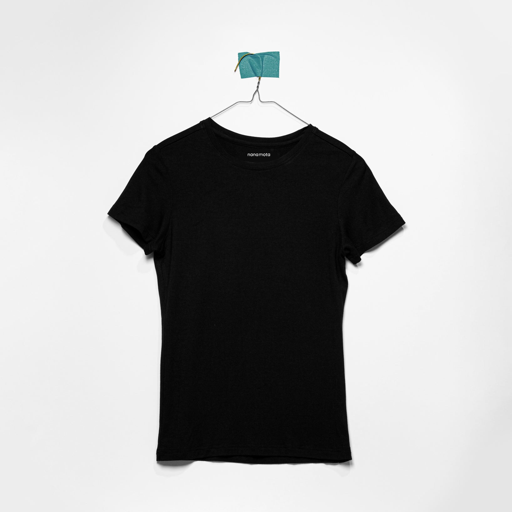 'THE SOFTEST TEE' WOMENS FITTED SHORT-SLEEVE BLACK