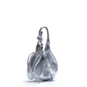 INA MINI CROSSBODY METALLIC SILVER