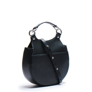 TILDA SADDLE BAG PEBBLE BLACK