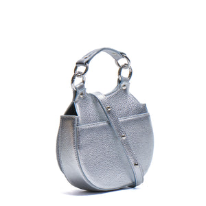 TILDA MINI SADDLE BAG PEBBLE SILVER