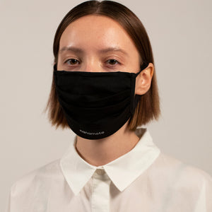 PLEATED KNIT FACE MASK BLACK (4-PACK)