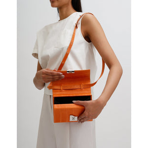 MARY BAG MINI CROC TANGERINE