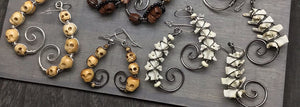 Eyescream Snake Vertebrae Earrings Bone Skull Oddities
