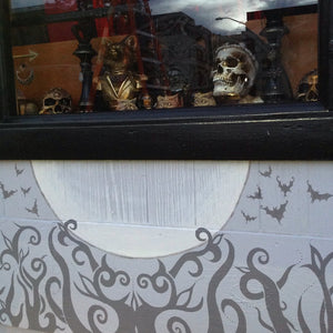 Eyescream Gothic Jewelry Witch Shop Oakland Artist Dark Bat Skull Art