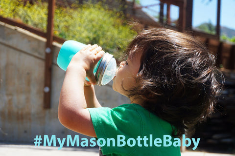 Enter the Mason Bottle Giveaway on Instagram to win an exclusive baby bottle gift card!